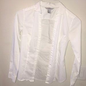 H&M women's button down white shirt size 2